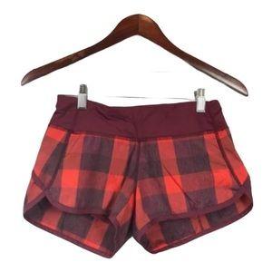 Lululemon Speed Shorts Yama Check, Size 2